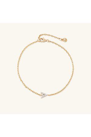 Mejuri Women Bracelets - Diamond Letter Bracelet