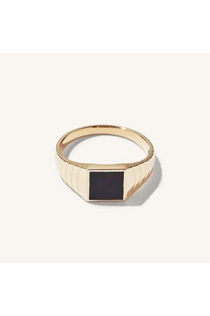 Mejuri Men Rings - Black Onyx Square Signet Ring