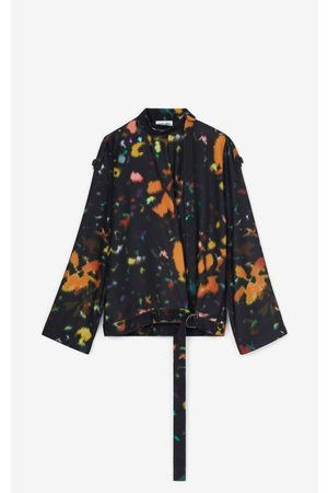 Kenzo Women Wrap tops - Abstract Floral' wrap blouse