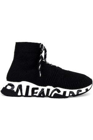 Balenciaga Speed Lace Up Graffiti Sneaker in