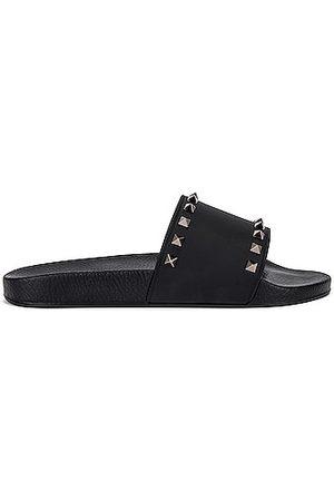 VALENTINO GARAVANI Rockstud Slide Sandals in