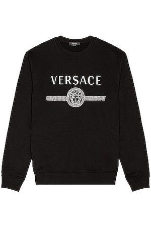VERSACE Men Hoodies - Cotton Logo Sweatshirt in