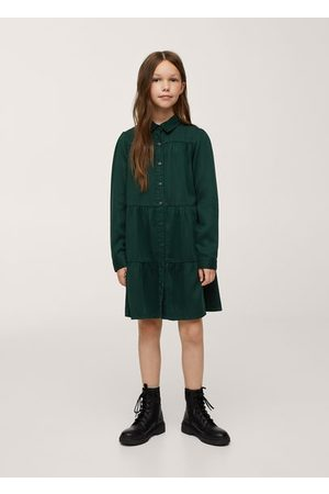 MANGO Girls Casual Dresses - Lyocell shirt dress
