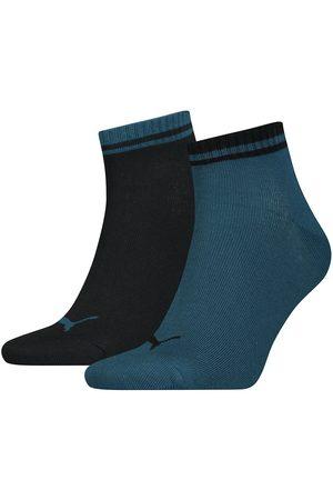 PUMA Heritage Quarter Unisex Socks 2 Pairs EU 43-46 Intense / Black