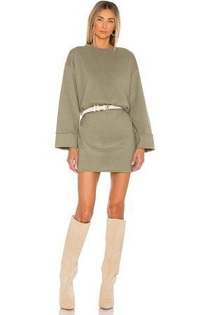 LINE & DOT Women Party Dresses - Novah Mini Dress in Sage.