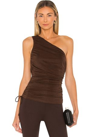 Line & Dot Camilla One Shoulder Ribbed Top in .