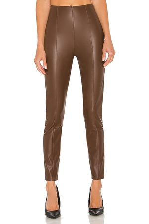 Free People Spitfire Stacked Skinny Legging in Brown.