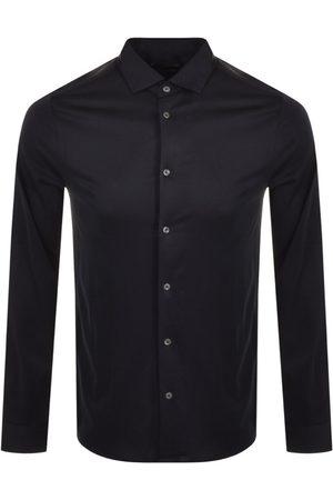 Armani Men Long sleeves - Emporio Logo Long Sleeve Shirt Navy