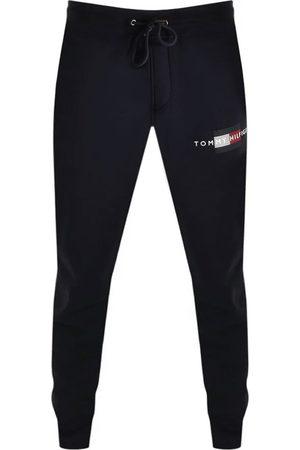 Tommy Hilfiger Men Sports Pants - Lines Logo Jogging Bottoms Navy