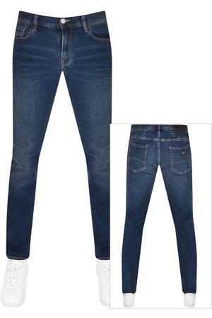 Armani Men Slim - J13 Slim Fit Jeans Bue