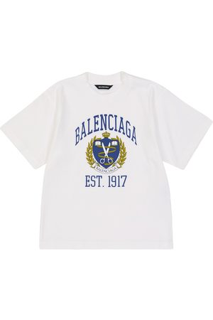 Balenciaga T-shirts - Printed cotton jersey T-shirt