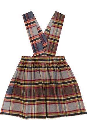 PAADE Kids Skirts - Checked cotton pinafore skirt