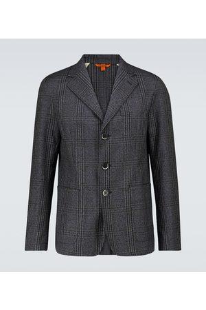 BARENA Toppa Drapo checked wool blazer