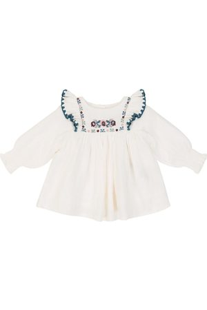 Louise Misha Baby Comette embroidered cotton blouse