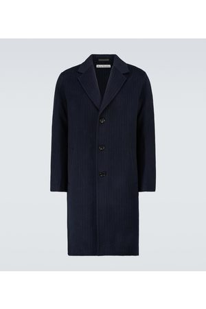 Acne Studios Dali pinstriped double-faced wool overcoat