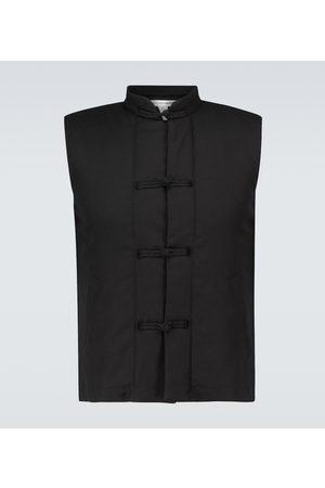 Comme des Garçons Single-breasted wool-blend vest