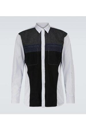 Comme des Garçons Men Long sleeves - Deconstructed cotton and wool shirt