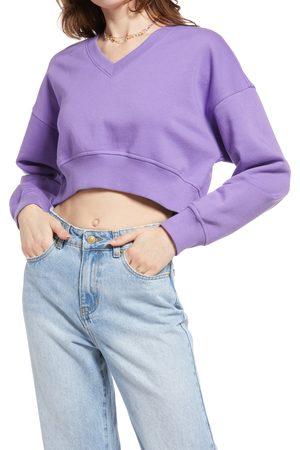 BP. Women's V-Neck Crop Organic Cotton Blend Sweatshirt