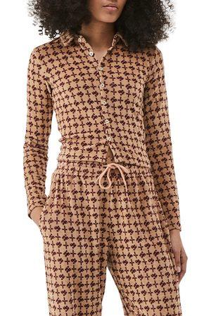 iets frans Women's Monogram Velour Long Sleeve Polo