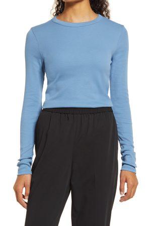 Nordstrom Women's Everyday Long Sleeve Crewneck Rib T-Shirt