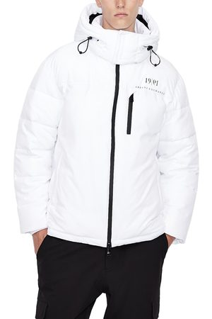 Armani Men's Quilted Hooded Jacket