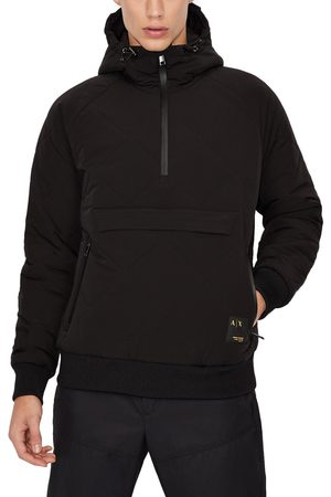 Armani Men's Quilted Hooded Anorak