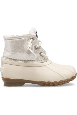 Sperry Top-Sider Boots - Sperry Kids Saltwater Metallic Duck Boot Ivory, Size 6M
