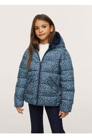 MANGO Printed quilted coat