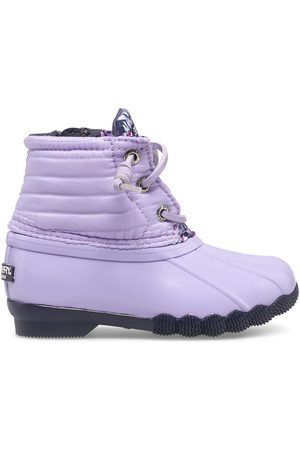 Sperry Top-Sider Sperry Kids Saltwater Duck Boot Lilac, Size 6M