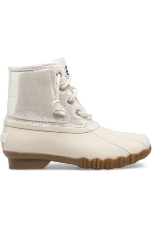 Sperry Top-Sider Boots - Sperry Kids Saltwater Metallic Duck Boot Ivory, Size 1M
