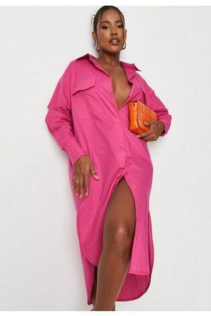 Missguided Poplin Midi Shirt Dress