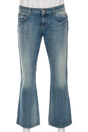 Gucci Light Washed Denim Short Skinny Flared Jeans L