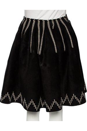 Alaïa Women Printed Skirts - Patterned Felted Wool Flared Skirt M
