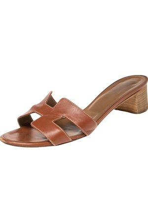 Hermès Women Sandals - Leather Oasis Sandals Size 36.5