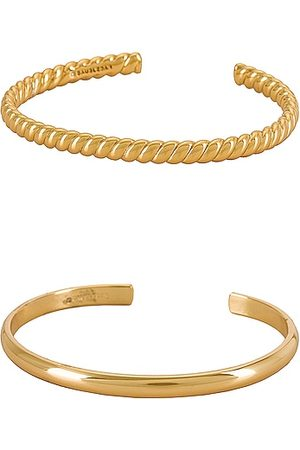 Baublebar Women Jewellery Sets - Solid and Braided Bangle Set in Metallic .