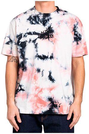 RVCA Men Short Sleeve - Better Luck Tie Dye Short Sleeve T-shirt M Pale Mauve