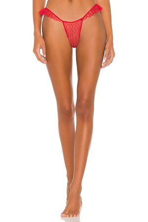Only Hearts Ruffle Thong in Red.