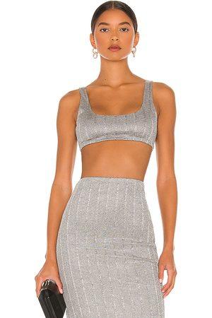 NBD Women Crop Tops - Lida Crop Top in Grey.
