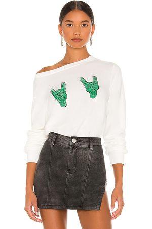 Wild Fox Women Hoodies - Rock On Saguaro Sweatshirt in Ivory.