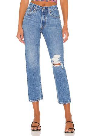 Levi's Women Jeans - 501 Crop in Blue.