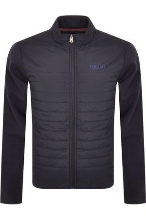 Hackett Quilted Full Zip Sweatshirt Navy