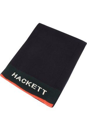 Hackett Men Scarves - London Logo Knit Navy
