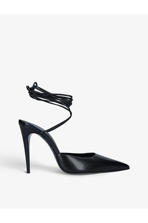 MAGDA BUTRYM Ankle-tie leather courts