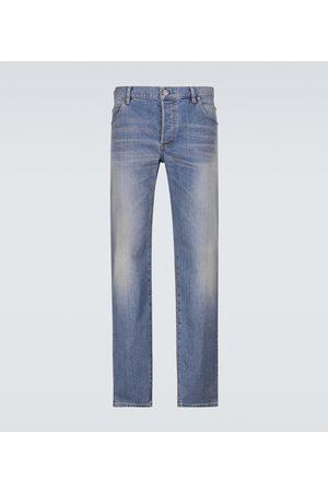 Balmain B-embossed straight-leg jeans