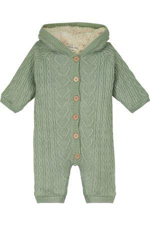 Louise Misha Baby David Pilot cable-knit onesie