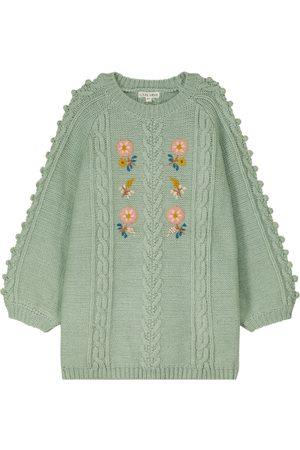 Louise Misha Rejana embroidered cable-knit sweater dress