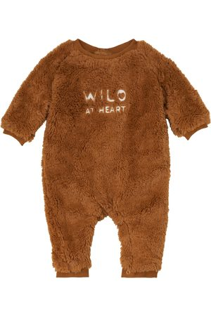 Louise Misha Baby James faux shearling onesie