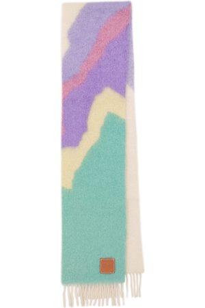 Loewe Fringed wool-blend scarf