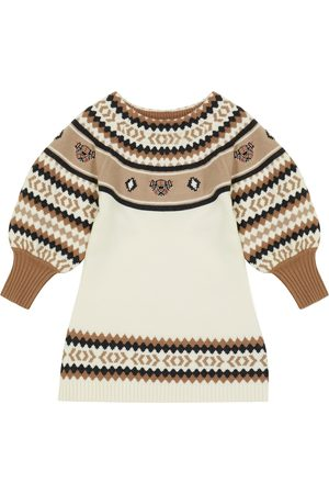 Burberry Wool and cashmere-blend Fair Isle dress