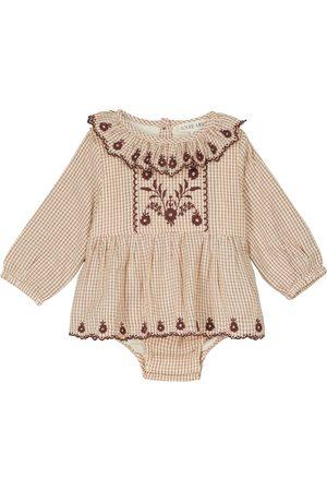 Louise Misha Baby Ghilena checked cotton bodysuit